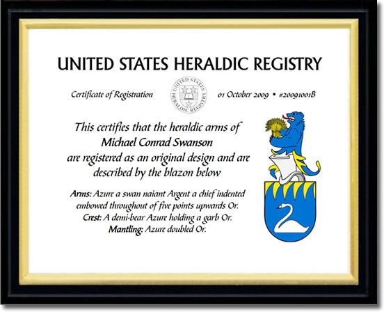 USHR Certificate